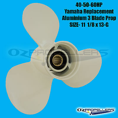 PROPELLER NEW ALLOY TO SUIT YAMAHA 40-60HP ENGINES  (Size-11 1/8 x 13 G)