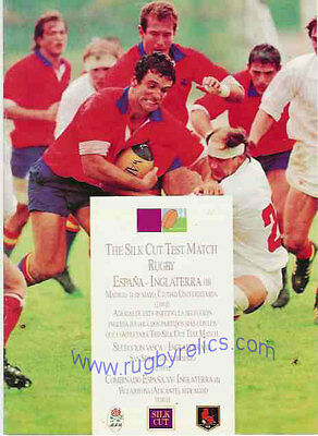 SPAIN v ENGLAND 'B' 1989 3 IN 1 RUGBY PROGRAMME