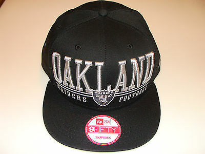 New Era Hat Cap NFL Football Oakland Raiders Lateral Snapback Hat Adjustable OS