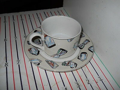FITZ & FLOYD 50'S KITCHEN CUP AND SAUCER