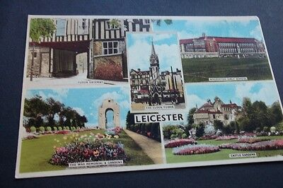 Old Postcard Of Leicester