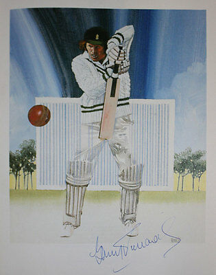 Barry Richards Signed cricket print from Lord's Taverner's 50 Greatest