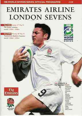 WORLD SEVENS SERIES RUGBY PROGRAMME LONDON 27/28th May 2001