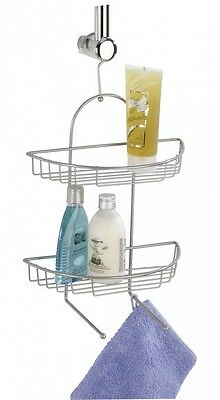 Wenko Kuopio 2-Tier Exclusive Wire Shower Storage Rack Chrome