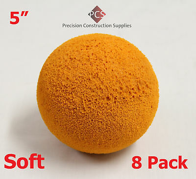 "Pack of 8 – 5"" Soft Budget Sponge Balls for Concrete Pumps"