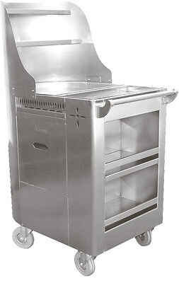 """ACE Stainless Steel Chinese Dim Sum Fry Cart w/ 6"""" Swivel Casters C-FRY"""