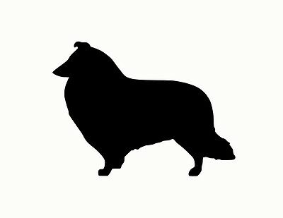 COLLIE DOG metal steel not painted 7 inch USA silhouette