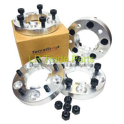 Land Rover Defender 90 110 130 New Terrafirma 30Mm Wheel Spacers & Nuts Tf301