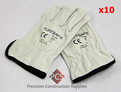 Tuffsafe Industrial Leather Rigger Gloves Size 10 Large -Pack of 10