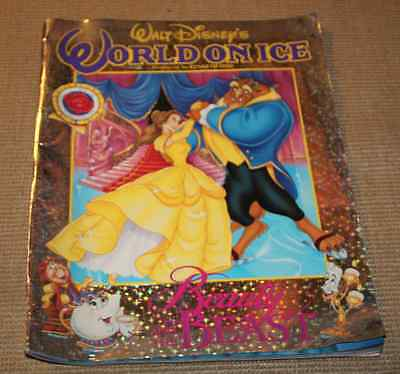 Programme Walt Disney World on Ice 1993 Beauty & the beast Belle et la bête XXL