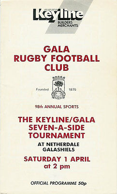 Gala Sevens 1989 Rugby Programme
