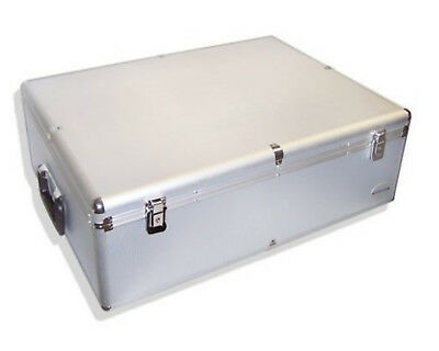 1000 er DJ KOFFER CD/DVD/BLURAY CASE BOX MIT SLEEVES/HÜLLEN+SCHLOSS ALU LOOK