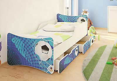 BEST FOR KIDS KINDERBETT JUGENDBETT MIT 2 SCHUBLADEN BETTKASTEN 80x180 90x200