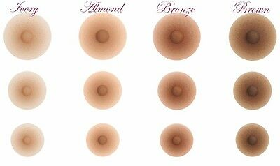 "AMOLUX NIPPLES - self adhesive, realistic, high quality -  ""M"" - Bronze (7320)"