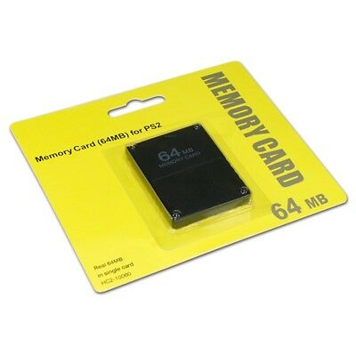 Black 64mb 64 Mb Memory Card For PS2 Ps 2 Playstation 2 New Fast Post UK Seller