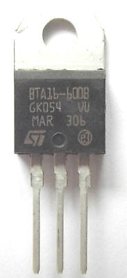 BTA16-600B  ST TRIAC 600V 16A 3-Pin TO-220A