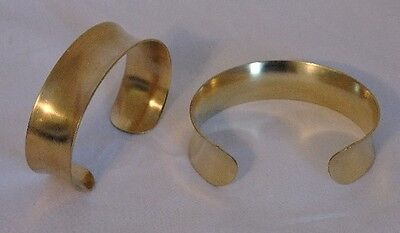 Brass Bracelet Cuff Blanks Concave 3/4 inch Pkg Of 12