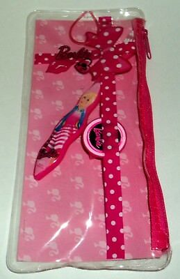 BARBIE Travel Kit Zippered Pouch W/Toothbrush & Toothbrush Cap & Room For More