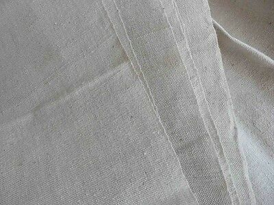 Antique French linen metis fabric for sheet