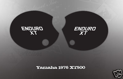 Yamaha 1976 Xt500 Side Cover Number Plate Decal Graphic
