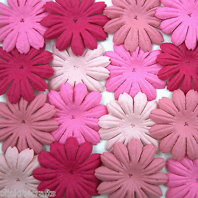 100 Pink Paper Flowers Scrapbook Cardmaking Basket Party Craft Supply ZP23-00