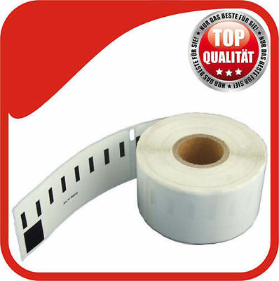 1 Rolle Etiketten 38x90 mm 400 Stk. Brother P-Touch QL 500 A BS BW 550 DK-11208
