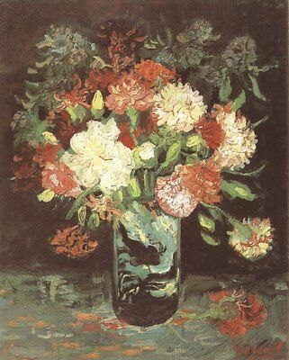 Vase With Carnations Van Gogh VG252 Reproduction Art Print A4 A3 A2 A1