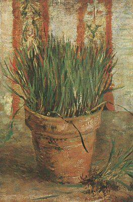 Vase With Chives Vincent Van Gogh VG334 Repro Art Print A4 A3 A2 A1