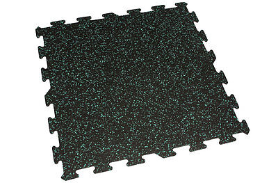IncStores Interlocking Gym Flooring Rubber Tiles 6mm 2'x2' Mats 9 Teal Tiles