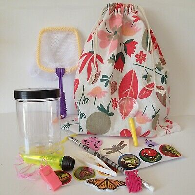 GIRLS Bug Catcher KIT + Shoulder BAG insect animal nature viewer torch net