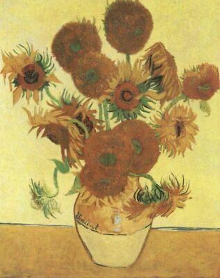Vase with Sunflowers Van Gogh VG513 Reproduction Art Print A4 A3 A2 A1