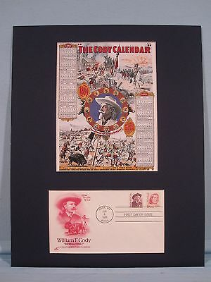 Buffalo Bill Cody and the Cody Calendar for the Wild West Show & First day Cover
