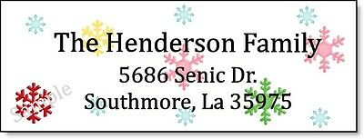 COLORFUL SNOWFLAKES #47 Return Address Labels