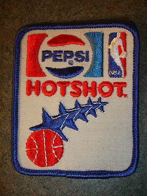 Collectible Pepsi Soda Hotshot NBA Advertisement Sewing Patch