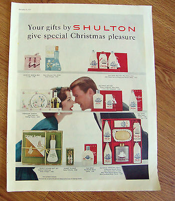 1958 Old Spice Shulton Ad  Your Gifts Special Christmas Pleasure