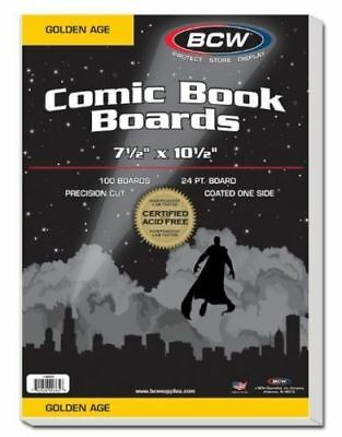 (100) BCW Golden Age Size Comic Book Backing Boards Acid Free / Precision Cut