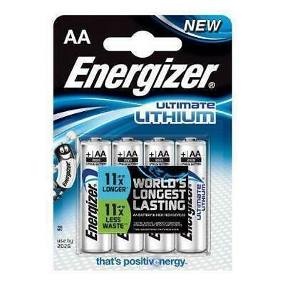 4 Energizer Ultimate Lithium AA Mignon Batterien MN1500 LR6 AM3