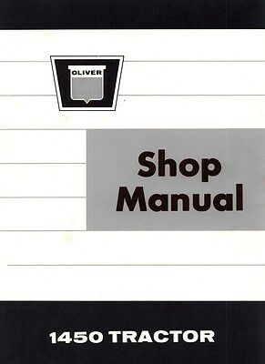 Oliver White 1450 Tractor Shop Service Manual