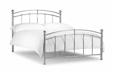 Chatsworth Metal Bed Frame  Silver, Single Double King