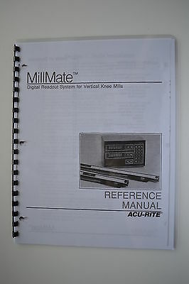 Acu-Rite MillMate Digital Readout DRO Owners Manual