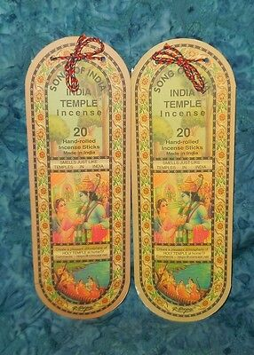 Song of India Temple Blend 40 Incense Sticks NEW Sealed Peaceful Heavenly Scent
