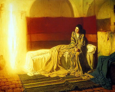 Tanner The Annunciation 1898 - Print Canvas Giclee Art Repro 8X10