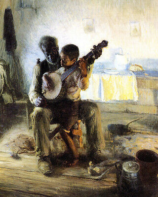 Tanner The Banjo Lesson 1893 - Print Canvas Giclee Art Repro 8X10
