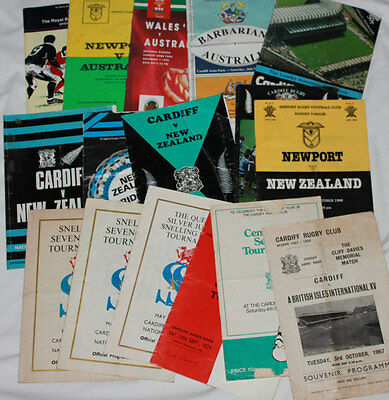 16 Miscellaneous Rugby Programmes In Varying Condition