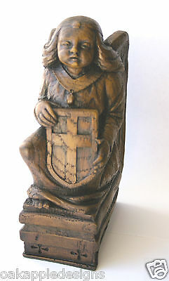 Scottish Angel & Shield Reproduction Edwardian Cathedral Carving Unique Gift New