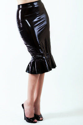 Latex Rock in Secretary Look/ Latex pencil secretary skirt