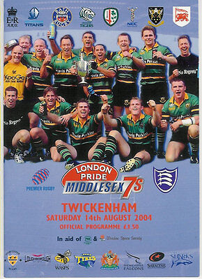 Middlesex Sevens 2004 Rugby Programme Winners British Army