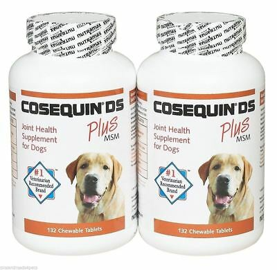 Cosequin DS 264ct Joint health for Dogs Double strength chewable tablet Plus MSM