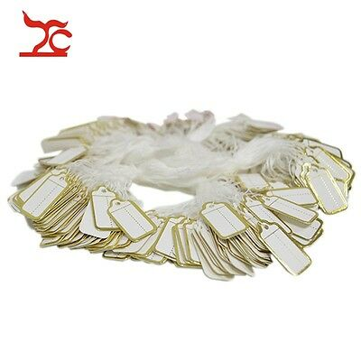Wholesale 500pcs Paper Price Tag with Gold Line Label Store Supply Jewelry Tool