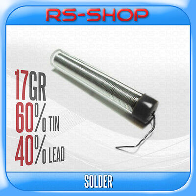Solder Wire Solding Iron Tube Dispenser 0.7mm 17g - 60%/40% Tin/Lead